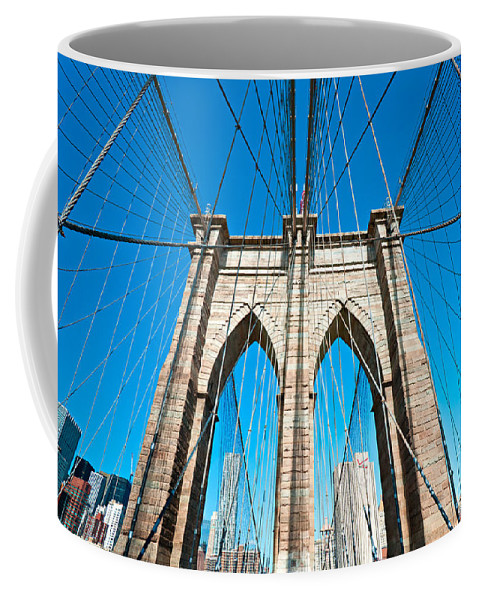 America Coffee Mug featuring the photograph Brooklyn Bridge - New York City by Luciano Mortula