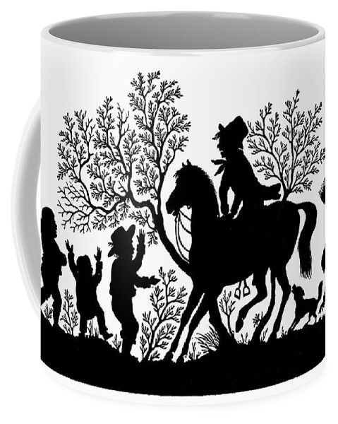 19th Century Coffee Mug featuring the painting Children Playing by Granger