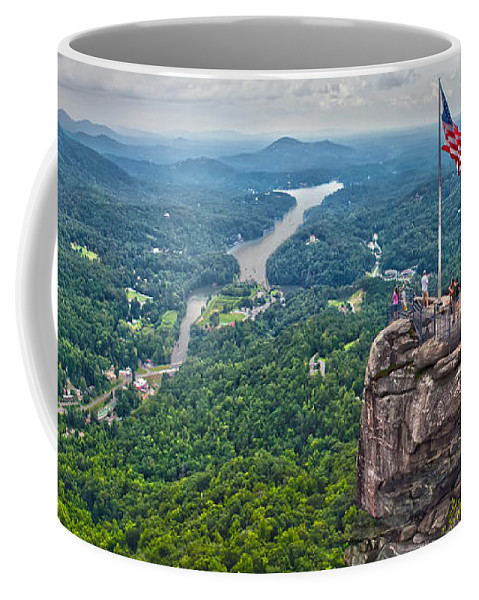 Colors Coffee Mug featuring the photograph Chimney Rock At Lake Lure by Alex Grichenko