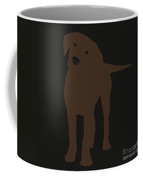 Silhouette Coffee Mug featuring the digital art Chocolate Labrador by Elizabeth Harshman