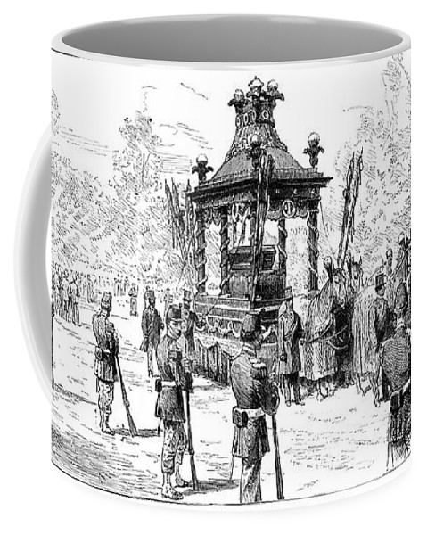 1881 Coffee Mug featuring the painting Garfield Funeral, 1881 by Granger