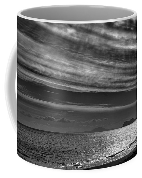 Black And White Coffee Mug featuring the photograph Gibraltar by Guido Montanes Castillo