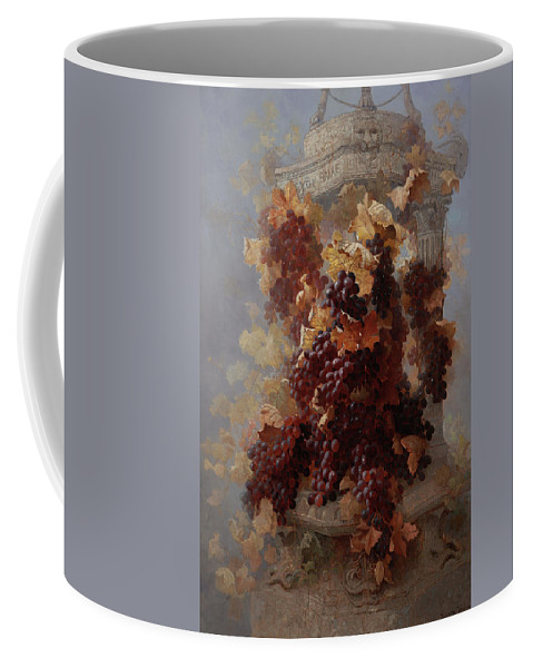 Grapes Coffee Mug featuring the painting Grapes And Architecture by Edwin Deakin