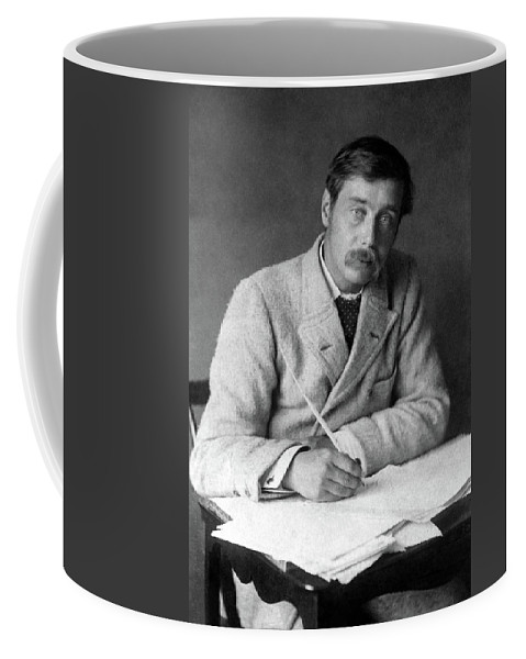 1896 Coffee Mug featuring the photograph Herbert George Wells (1866-1946) by Granger