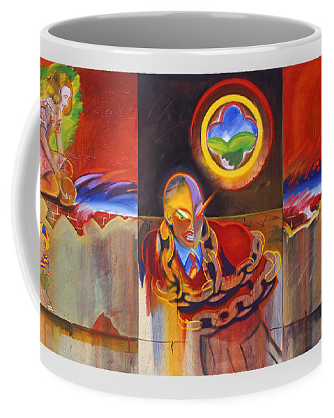 Art Coffee Mug featuring the painting I Saw The Figure Five In Gold by Charles Stuart