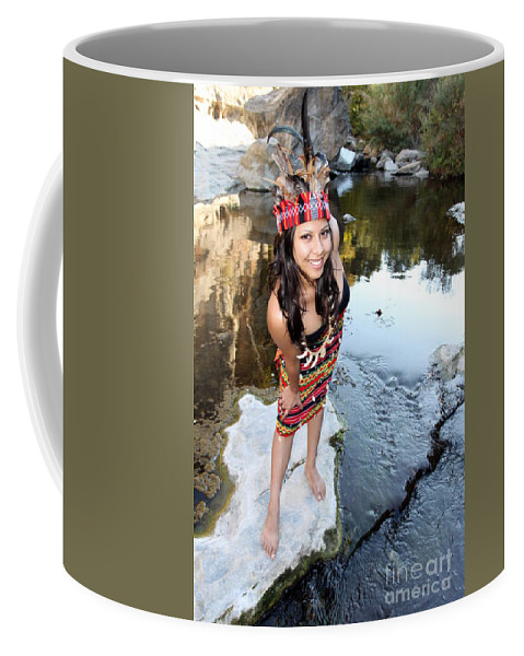 Colorful Coffee Mug featuring the photograph Indian Woman by Henrik Lehnerer