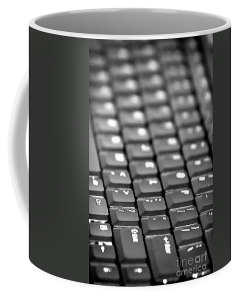 Keyboard Coffee Mug featuring the photograph Keyboard by Henrik Lehnerer