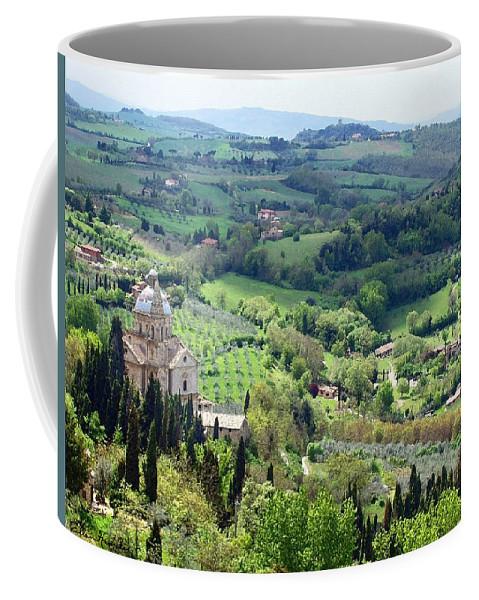 Madonna Di San Biagio Coffee Mug featuring the painting Madonna Di San Biagio by Ellen Henneke
