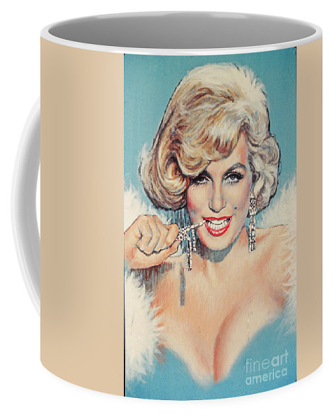 Marilyn Monroe Coffee Mug featuring the painting Marilyn Monroe by Dick Bobnick