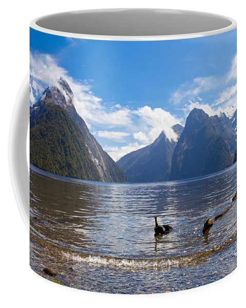 Mount Coffee Mug featuring the photograph Milford Sound And Mitre Peak In Fjordland Np Nz by Stephan Pietzko