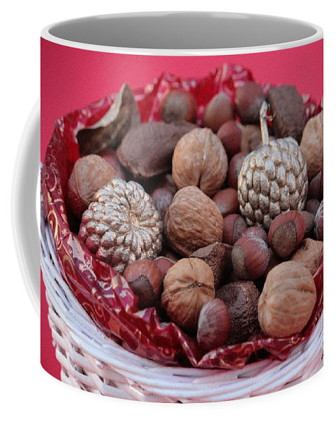 Mixed Nuts Coffee Mug featuring the photograph Mixed Holiday Nuts by Luv Photography