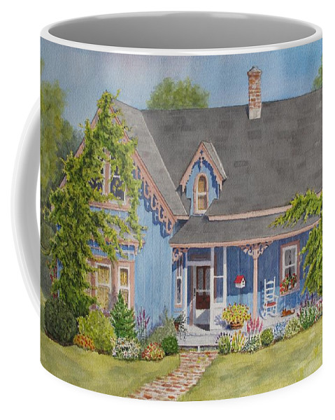 Canada Coffee Mug featuring the painting My Blue Heaven by Mary Ellen Mueller Legault