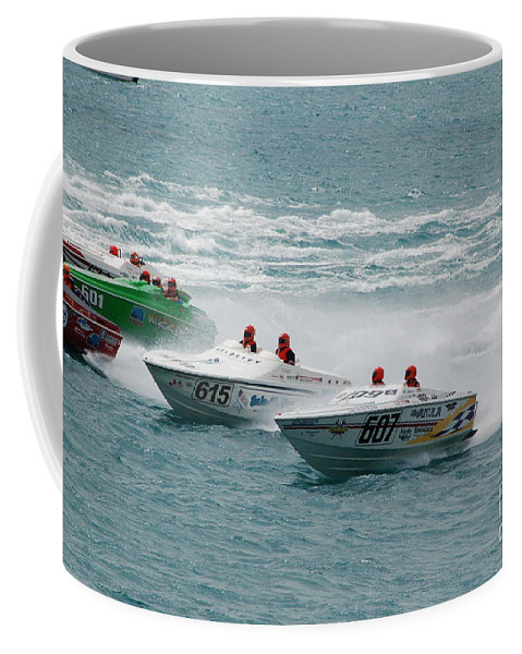 Offshore Coffee Mug featuring the photograph Port Huron Sarnia International Offshore Powerboat Race by Randy J Heath