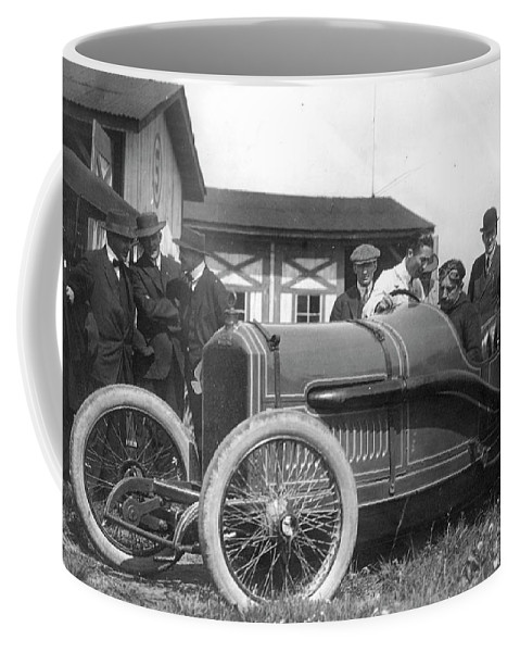 1914 Coffee Mug featuring the photograph Race Car, 1914 by Granger