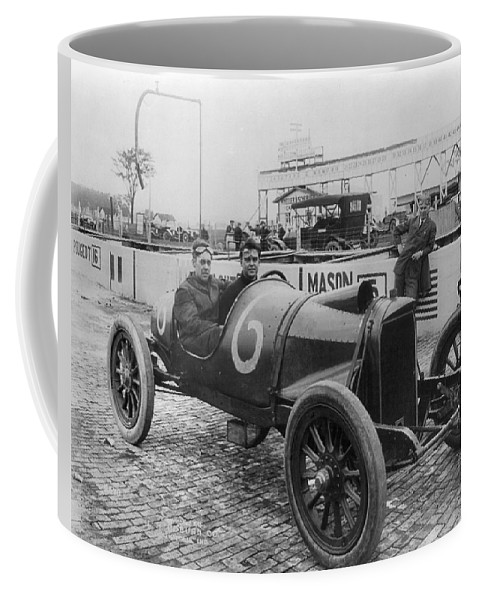 1913 Coffee Mug featuring the photograph Racecar Drivers, C1913 by Granger