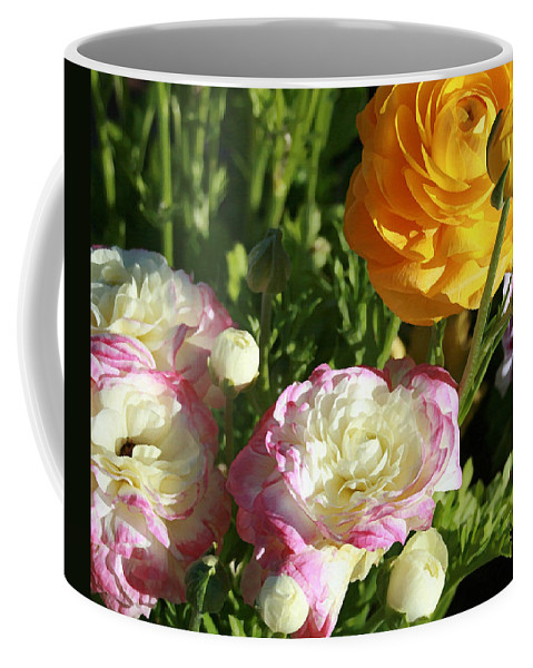 Ranunculus Coffee Mug featuring the painting Ranunculus 1 by Ellen Henneke