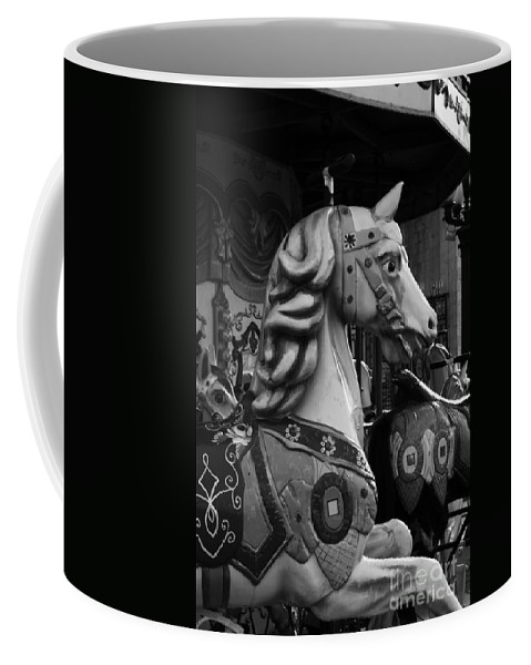 Retro Coffee Mug featuring the photograph Retro Carousel by Lali Kacharava