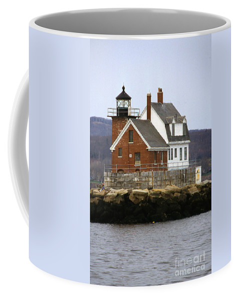 Maritime Coffee Mug featuring the photograph Rockland Breakwater Lighthouse by Skip Willits