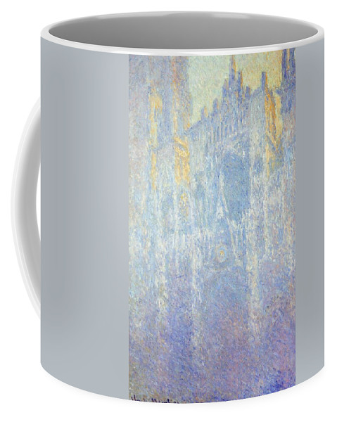 Art Coffee Mug featuring the painting Rouen Cathedral by Claude Monet