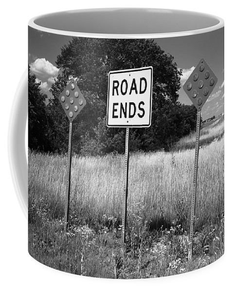 66 Coffee Mug featuring the photograph Route 66 - End Of The Road by Frank Romeo