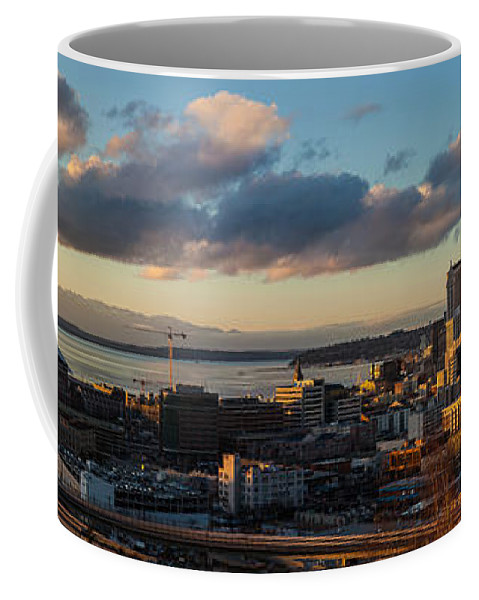 Seattle Coffee Mug featuring the photograph Seattle Dusk by Mike Reid