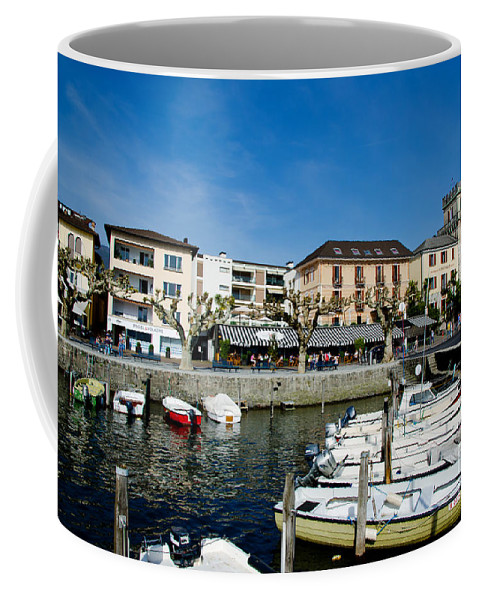 Port Coffee Mug featuring the photograph Small Harbor by Mats Silvan