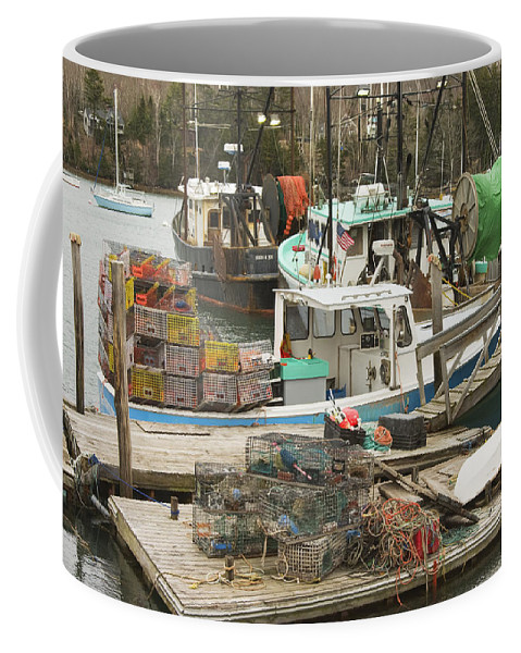 Maine Coffee Mug featuring the photograph South Bristol And Fishing Boats On The Coast Of Maine by Keith Webber Jr
