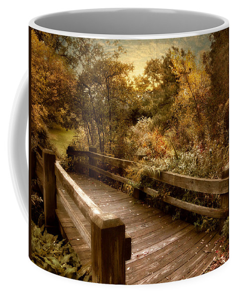Nature Coffee Mug featuring the photograph Splendor Bridge by Jessica Jenney