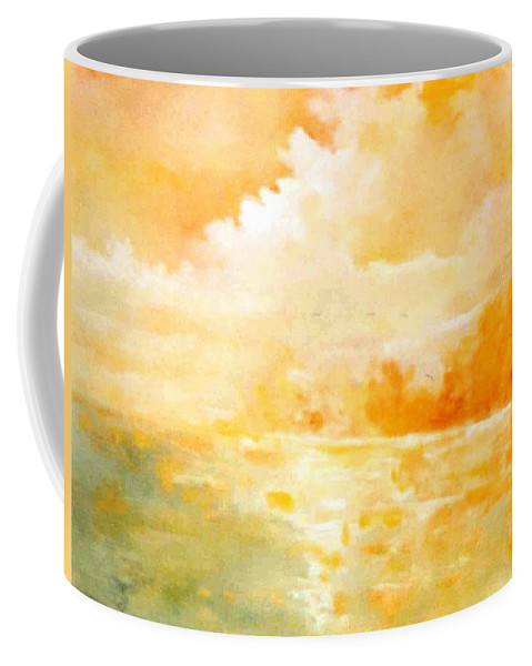 Lyle Coffee Mug featuring the painting Sunset by Lord Frederick Lyle Morris - Disabled Veteran