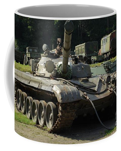 T-72 Coffee Mug featuring the photograph T-72 /2/ by Oleg Konin