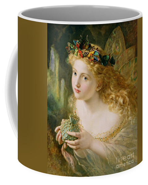 Female Coffee Mug featuring the painting Take The Fair Face Of Woman by Sophie Anderson