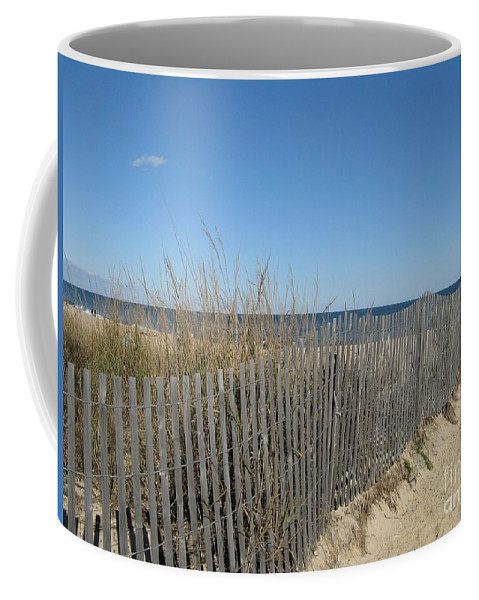 Delaware Coffee Mug featuring the photograph The Beach by Arlene Carmel