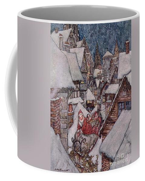 Christmas Illustrations Coffee Mug featuring the drawing 'the Night Before Christmas by Arthur Rackham