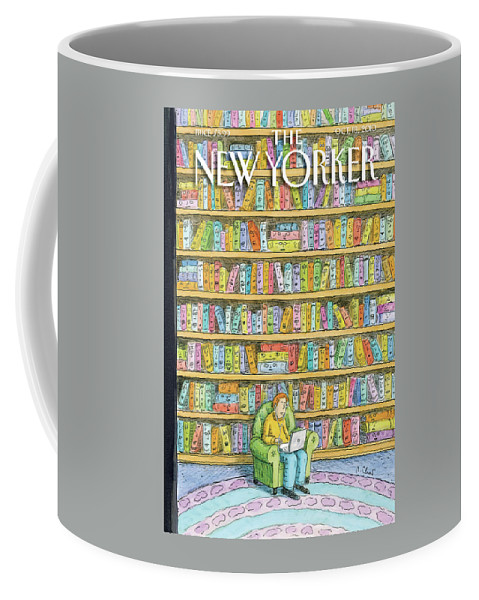 Computer Coffee Mug featuring the painting New Yorker October 18th, 2010 by Roz Chast