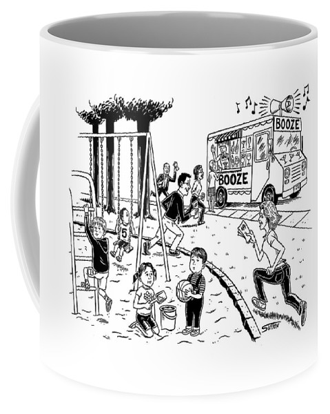 Captionless Coffee Mug featuring the drawing New Yorker July 21st, 2008 by Ward Sutton