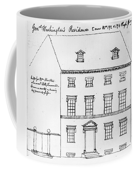 1790 Coffee Mug featuring the drawing Washington Residence by Granger