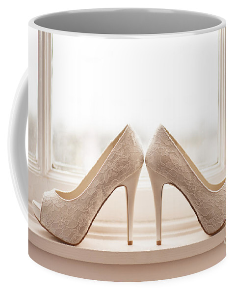 Wedding Coffee Mug featuring the photograph Wedding Shoes by Lee Avison