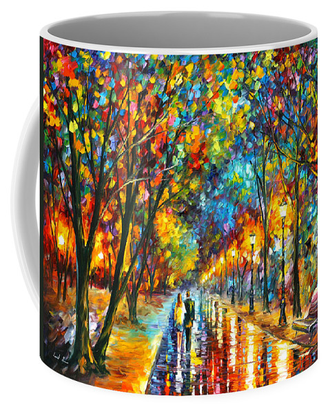 Park Coffee Mug featuring the painting When Dreams Come True by Leonid Afremov