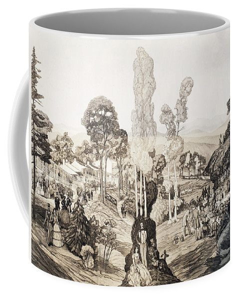 1850 Coffee Mug featuring the painting White Sulphur Springs by Granger