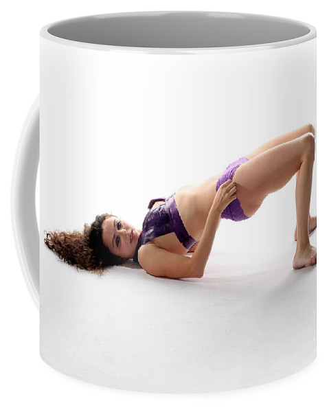 Female Coffee Mug featuring the photograph Woman Posing by Henrik Lehnerer