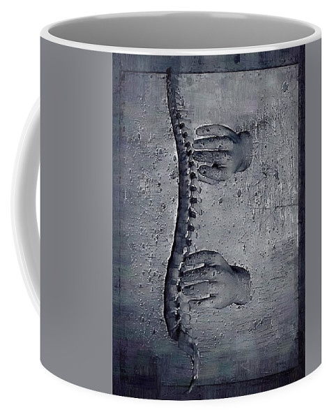 Chiropractor Coffee Mug featuring the digital art Healing Touch by Joseph Ventura