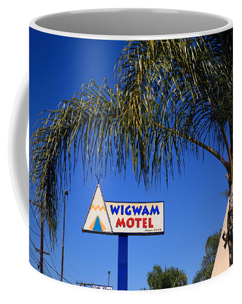 66 Coffee Mug featuring the photograph Route 66 - Wigwam Motel by Frank Romeo