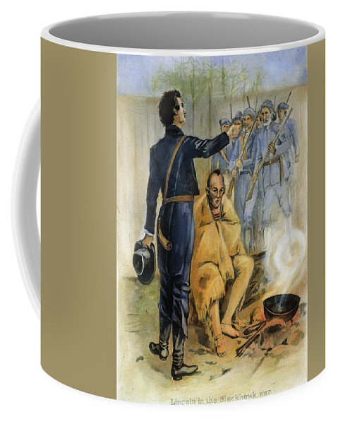 1832 Coffee Mug featuring the painting Abraham Lincoln (1809-1865) by Granger