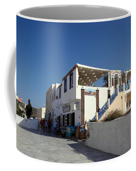 Santorini Coffee Mug featuring the photograph Views Of Santorini Greece by Richard Rosenshein