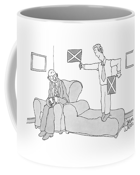 Caption Contest Coffee Mug featuring the drawing New Yorker March 17th, 2008 by Gahan Wilson