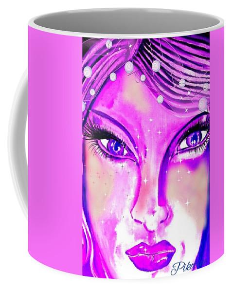 Pikotine Coffee Mug featuring the painting Okarine3 by Pikotine Art