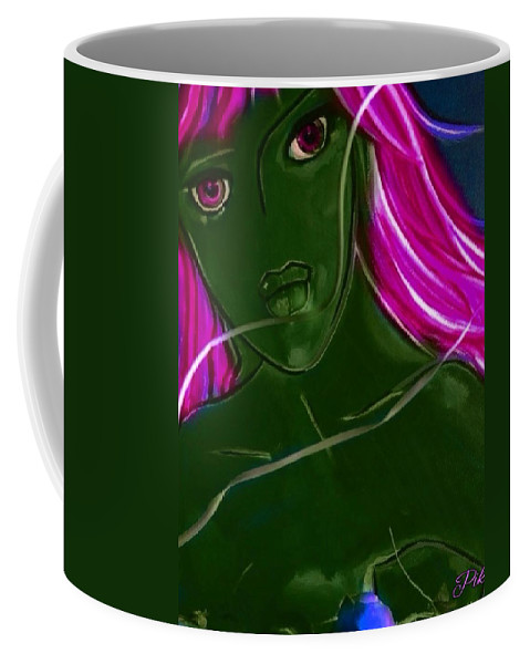 Pikotine Coffee Mug featuring the painting Pikotine Art by Pikotine Art