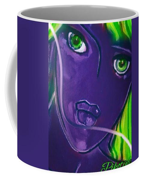 Pikotine Coffee Mug featuring the painting Pikotine Art by Pikotine Art
