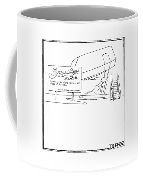 Regional Pennsylvania Inventions Word Play Problems  (amusement Park Ride With A Sign That Reads Coffee Mug featuring the drawing Scranton The Ride by Matthew Diffee