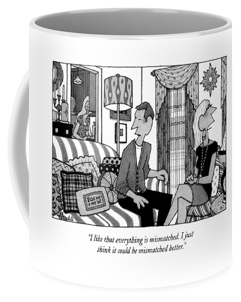 Match Coffee Mug featuring the drawing New Yorker September 14th, 2009 by William Haefeli